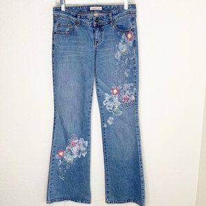 Tommy Jeans Floral Embroidered Flare Hippie Jeans